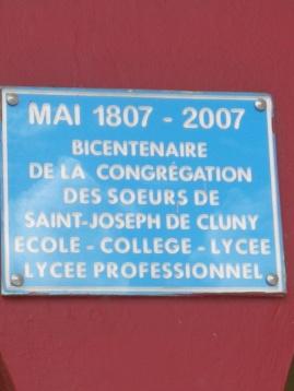 Commémoration du Centenaire de l'arrivée des Soeurs de Cluny en Martinique